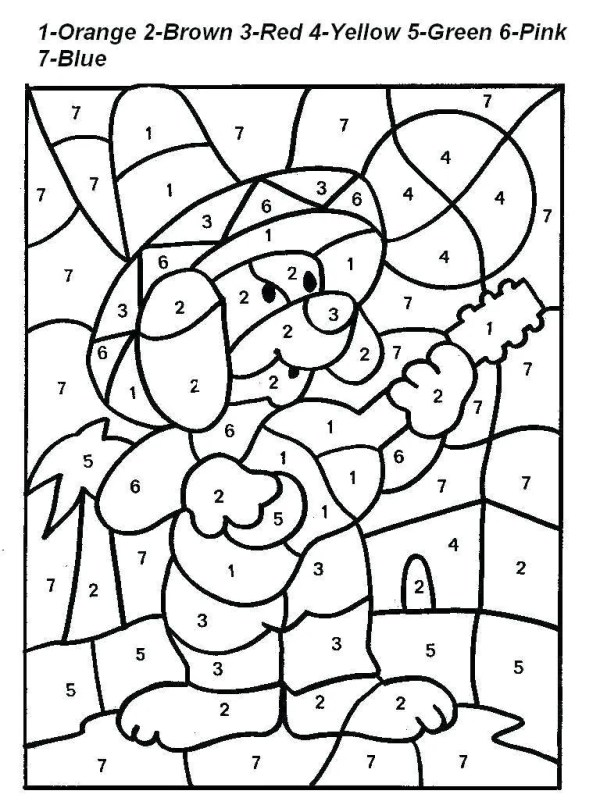 coloring pages by number # 4