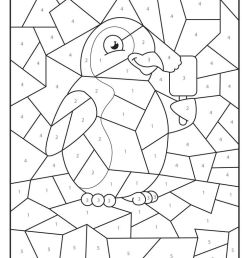 Free Printable Color by Number Coloring Pages - Best Coloring Pages For Kids [ 1072 x 736 Pixel ]