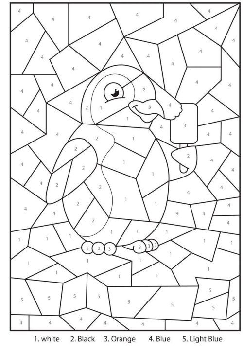 small resolution of Free Printable Color by Number Coloring Pages - Best Coloring Pages For Kids