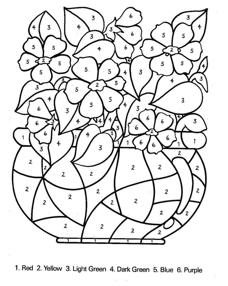 Coloring Pages To Print Kids By Number