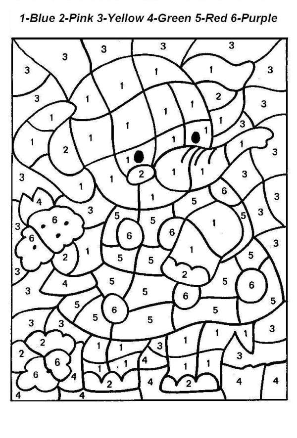 coloring pages color by number # 1