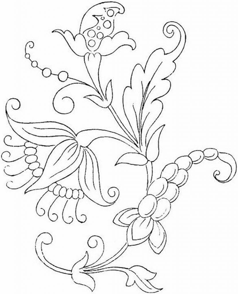 flower print for coloring | colouring pages flowers free