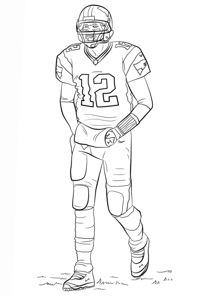 Nfl Football Player Drawings Redskins Sketch Coloring Page