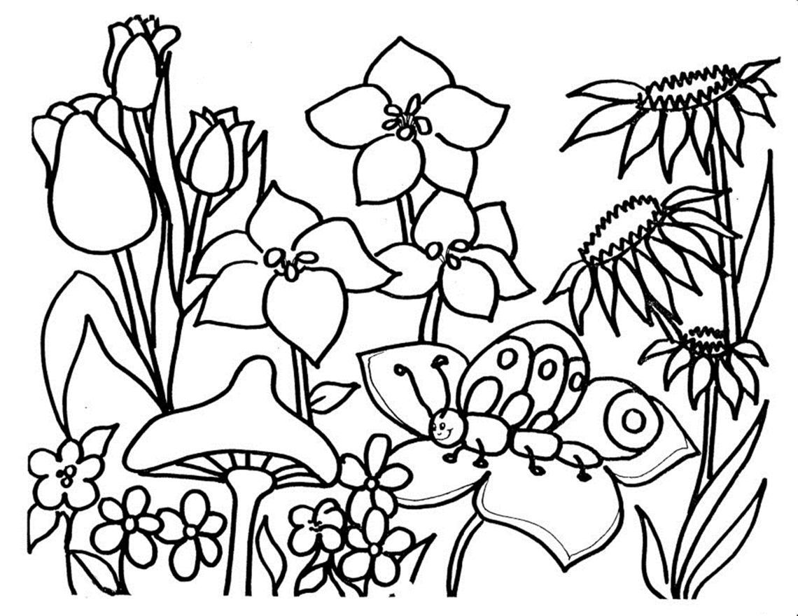 Free Printable Flower Coloring Pages For Kids - Best ... | flower coloring pages printable
