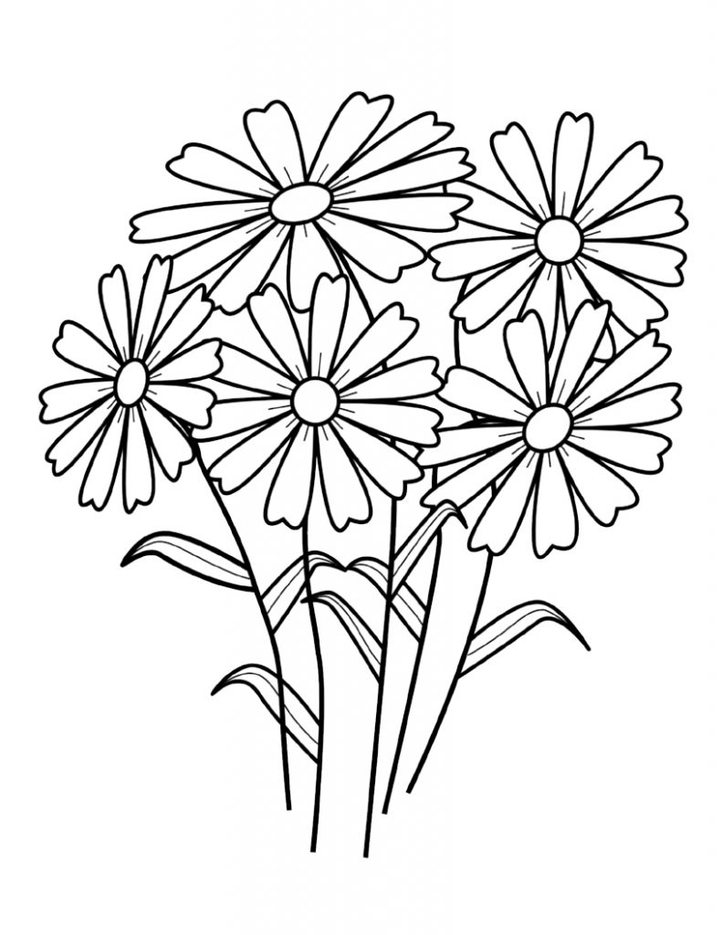 wild flowers to color   free printable coloring sheets flowers