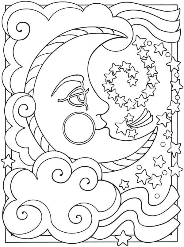 sun and moon coloring pages # 2