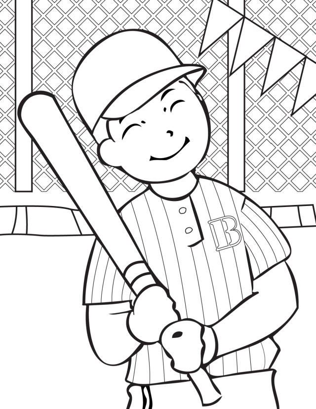 Free Printable Baseball Coloring Pages for Kids - Best Coloring