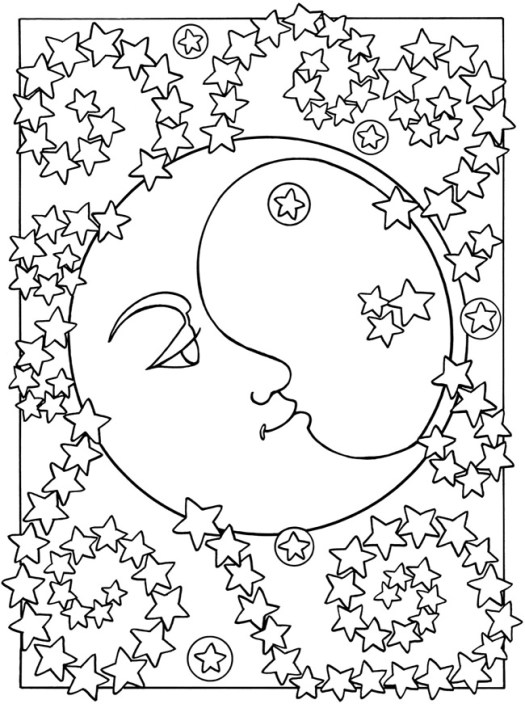 Free Printable Sun And Moon Coloring Pages  Coloring Page Cartoon