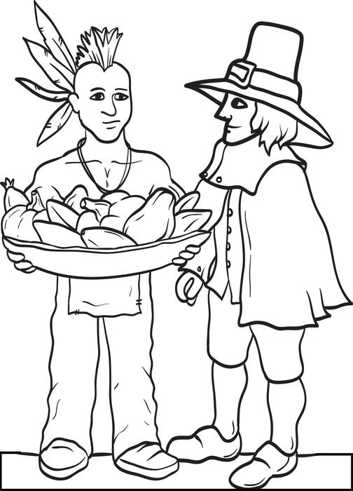 thanksgiving pictures printable coloring page coloring