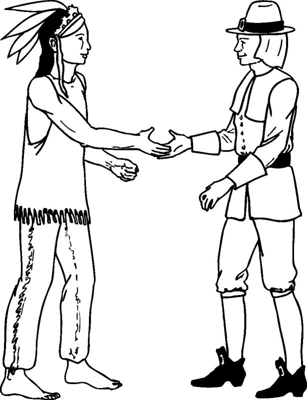 Pages Indian And Coloring Pilgrim