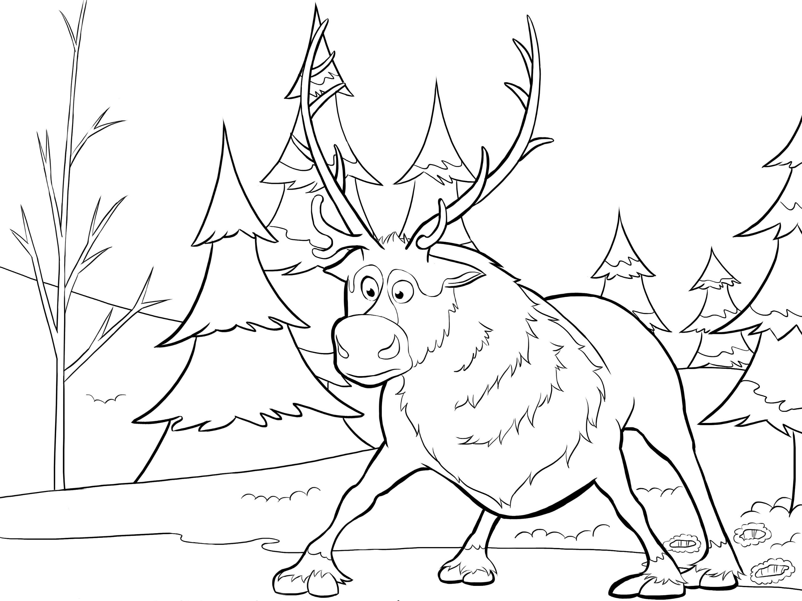 FREE 14+ Frozen Coloring Pages in AI | PDF | 1951x2601