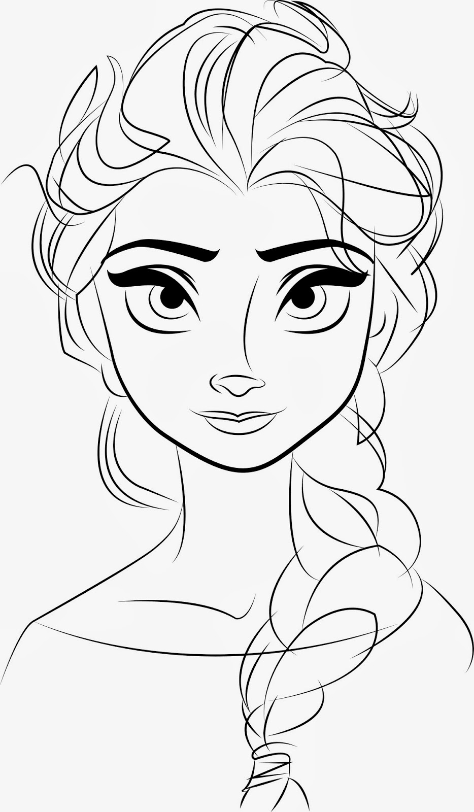 Elsa Colouring Pages To Print - Free Coloring Page