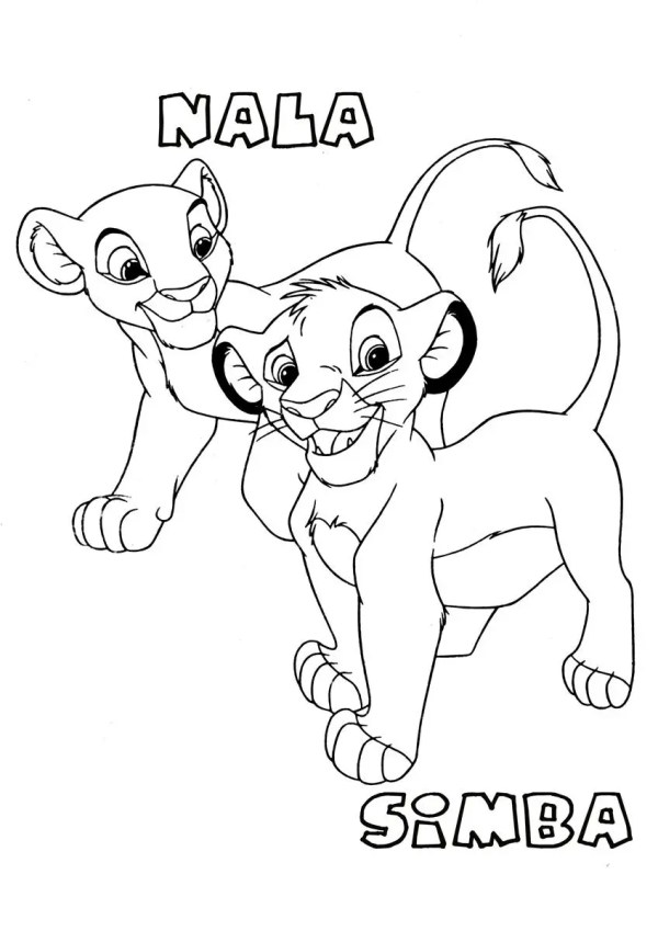 lion king coloring page # 19