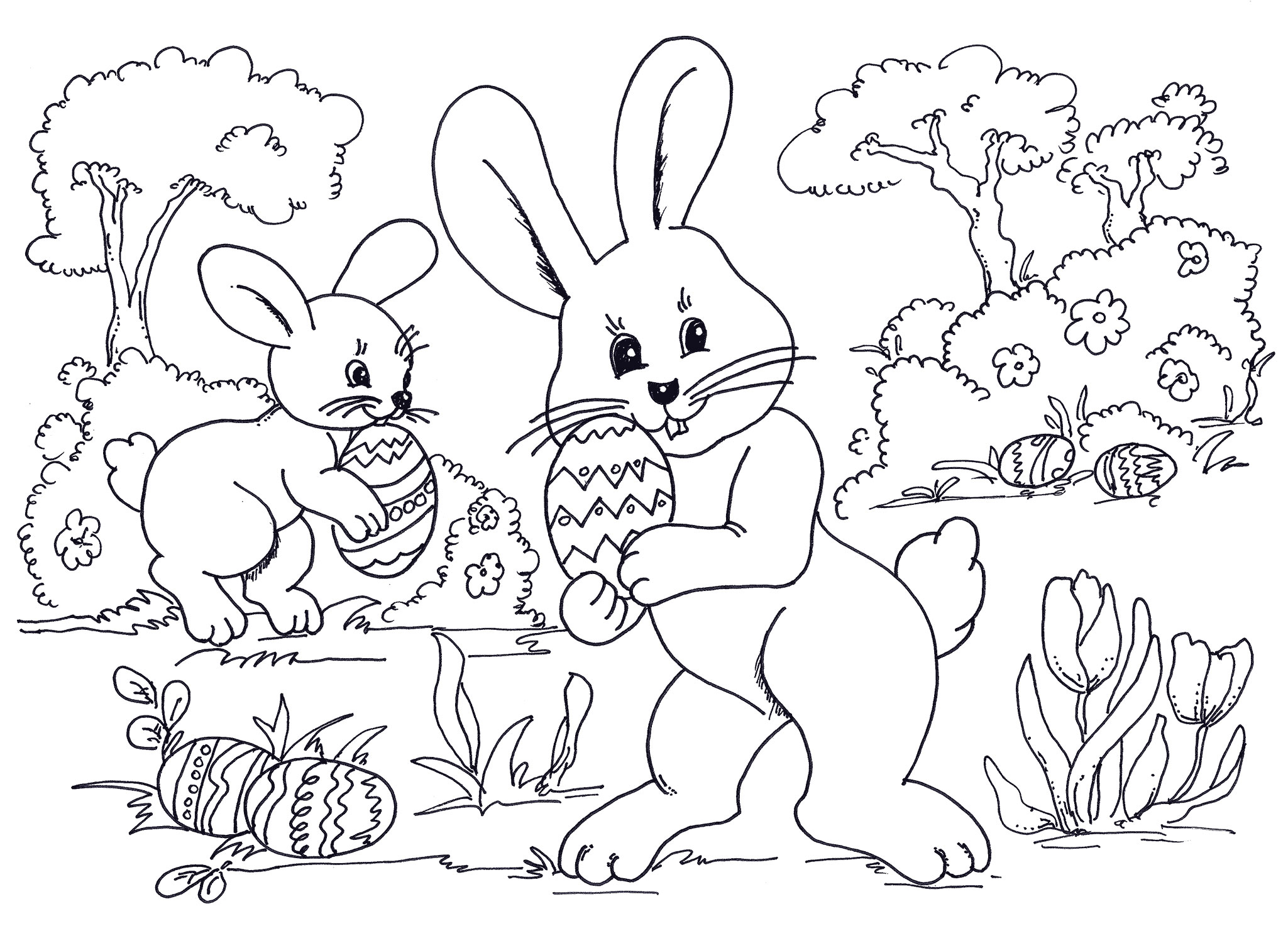 easter bunny pictures printable