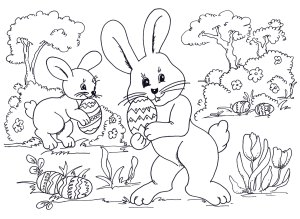 EASTER BUNNY PICTURES PRINTABLE  Auto Electrical Wiring