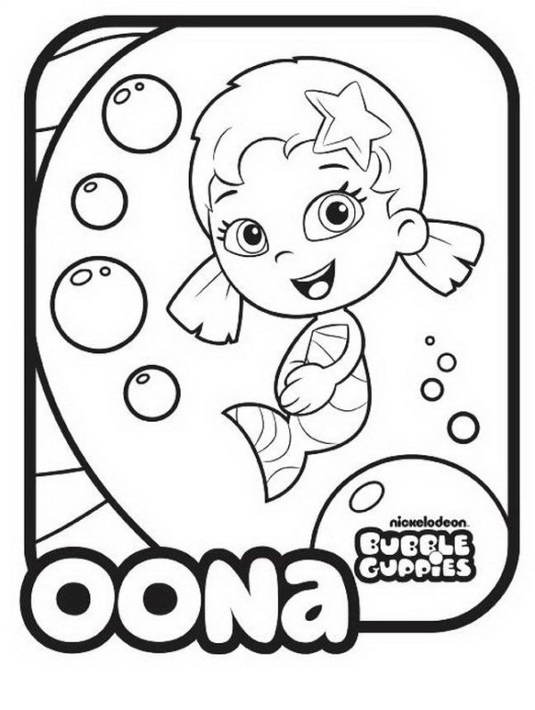 bubble guppies coloring page # 23