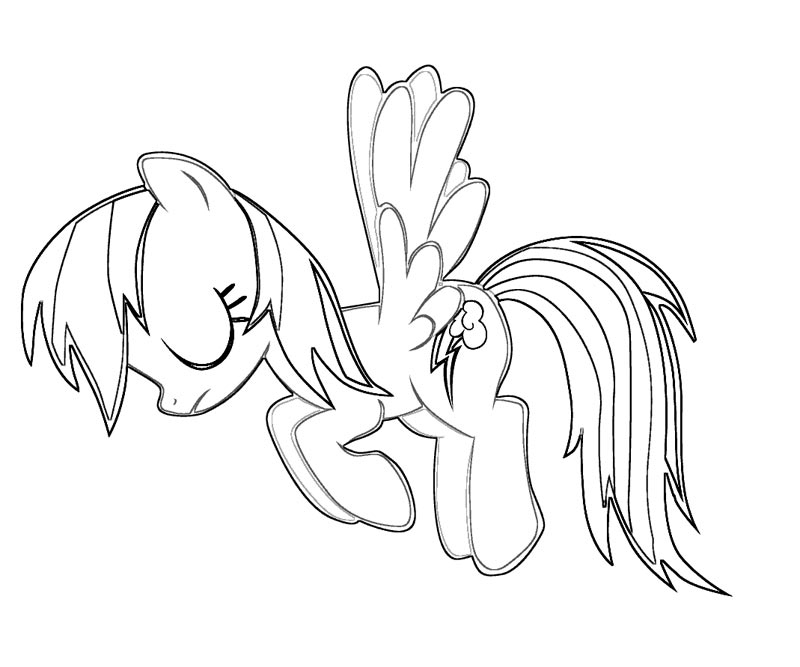 Rainbow Dash Coloring Page
