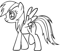 Rainbow Dash Coloring Pages - Best Coloring Pages For Kids