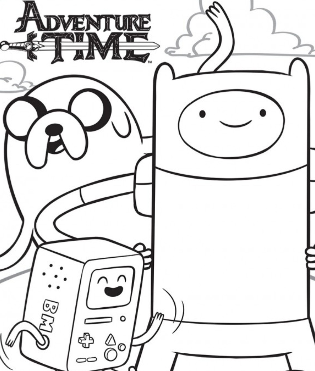 jungle princess adventure time coloring pages