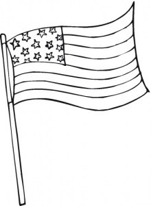 Usa Flag Printable Coloring Page