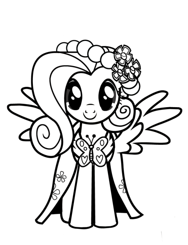 fluttershy coloring pages