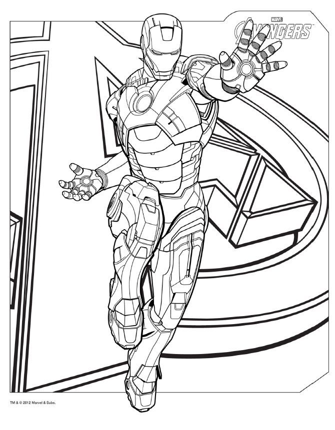 Free Printable Avengers Logo Coloring Pages