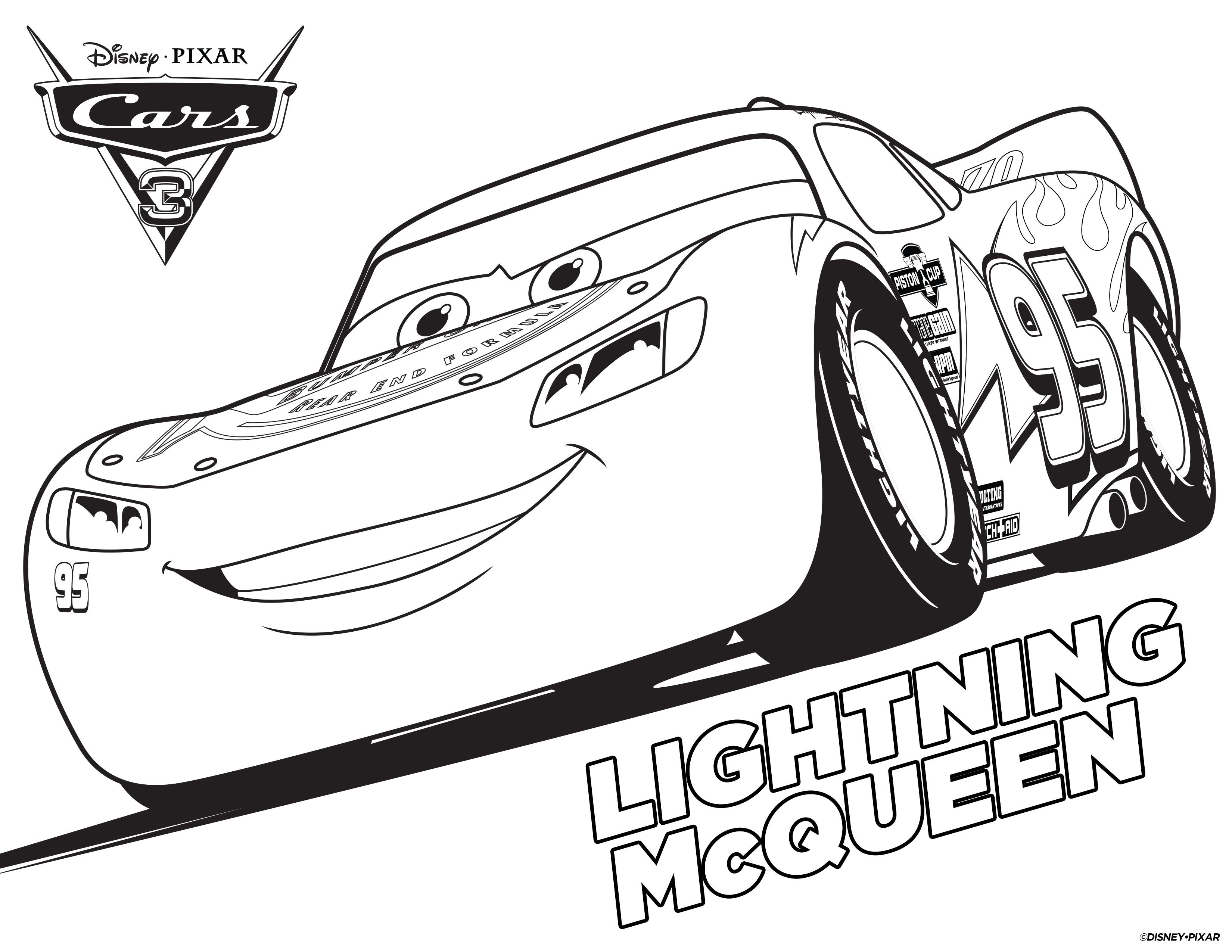 Coloring Lightning Mcqueen