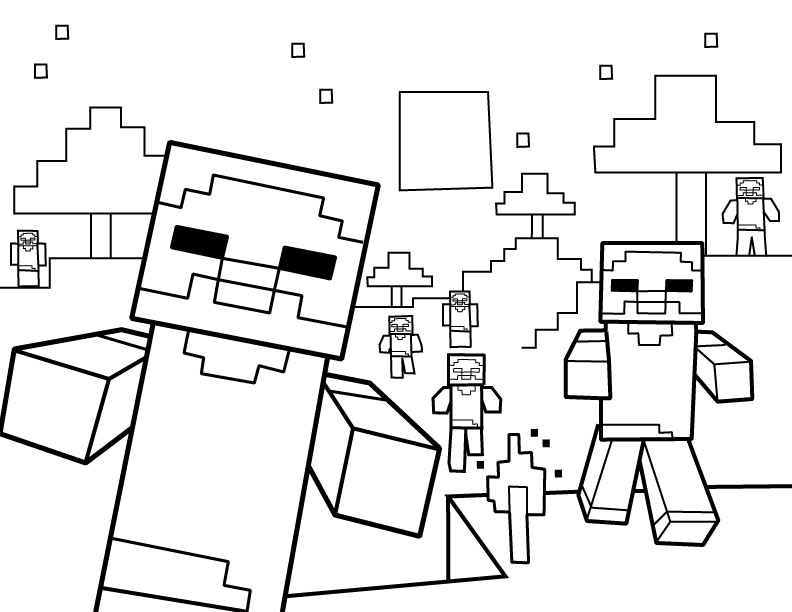 8cn Slime Minecraft Coloring Pages