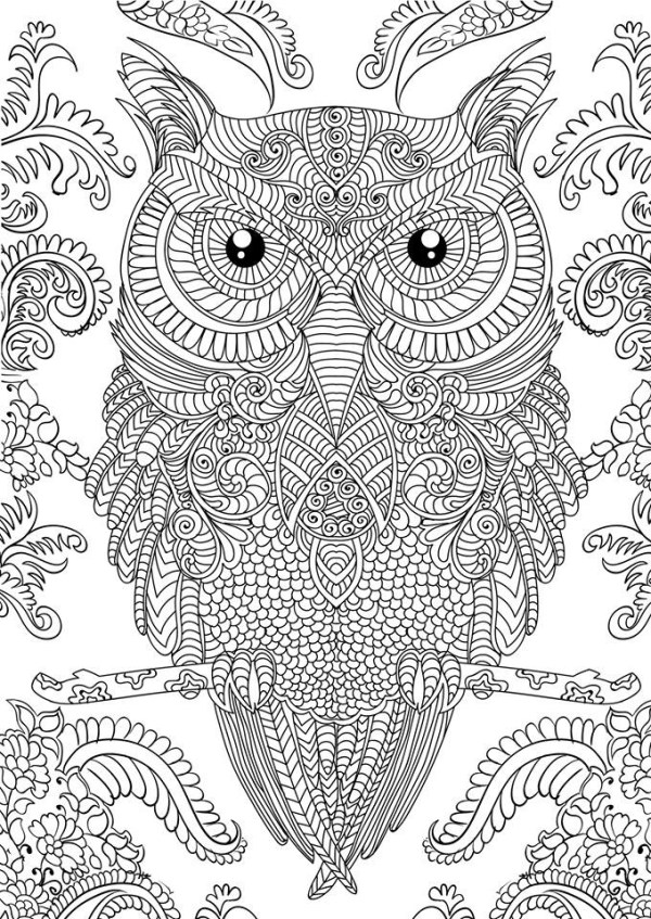 advanced coloring pages for adults # 6