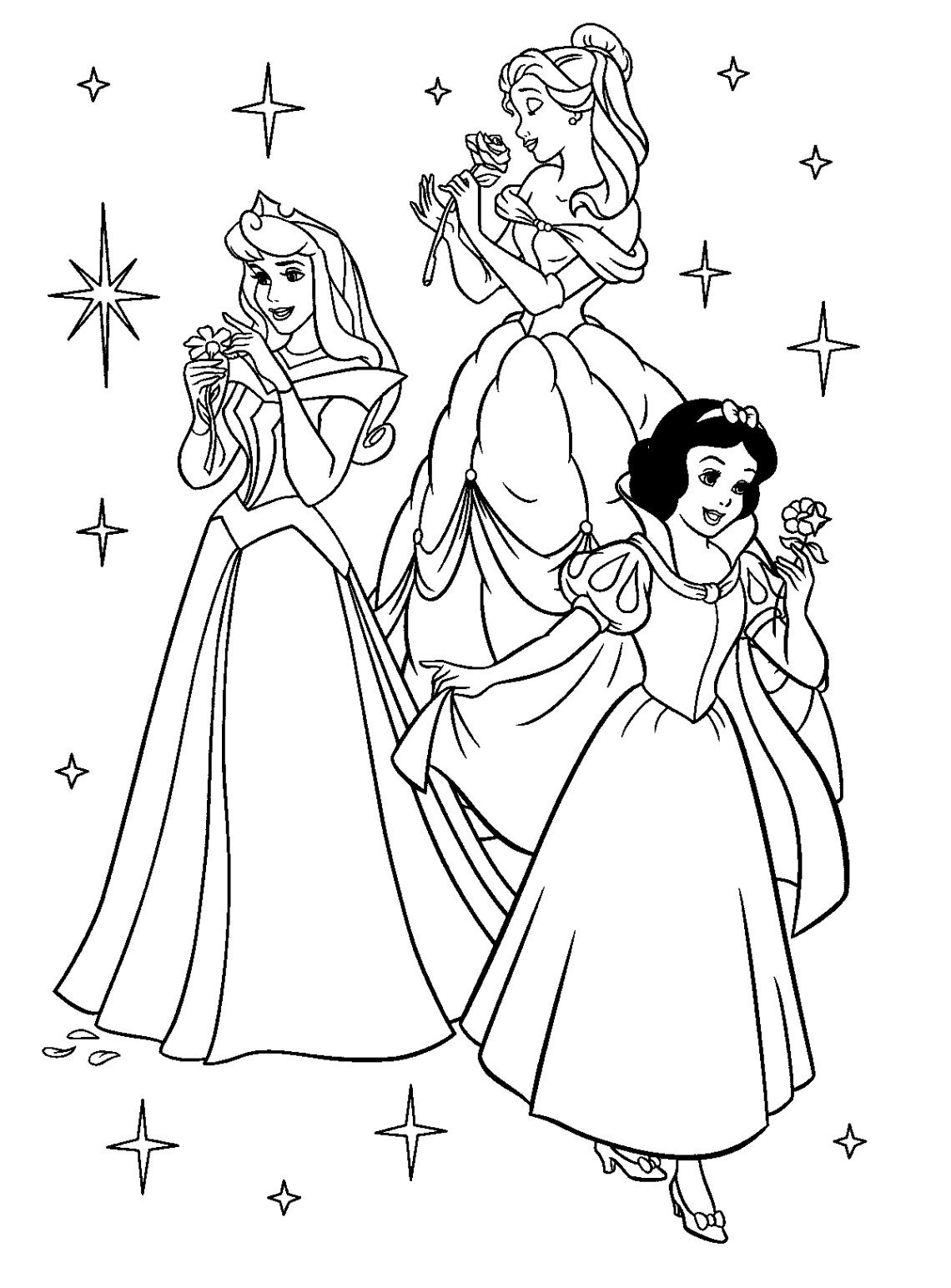 Princess Coloring Pages - Best Coloring Pages For Kids | colouring pages for disney princesses