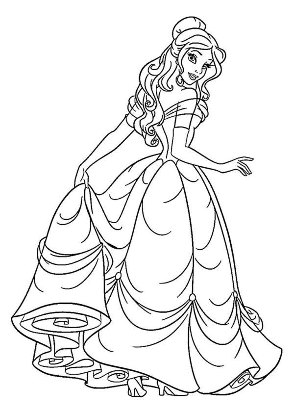 princess color page # 5