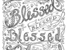 Blessed Christmas Coloring Pages for Adults