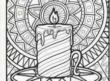 Candle Scene - Christmas Coloring Pages for Adults