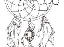 Dreamcatcher - Indian Coloring Pages