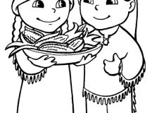 Feast - Native American Coloring Pages