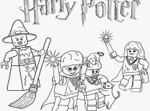 Harry Potter Lego - Lego Coloring Pages