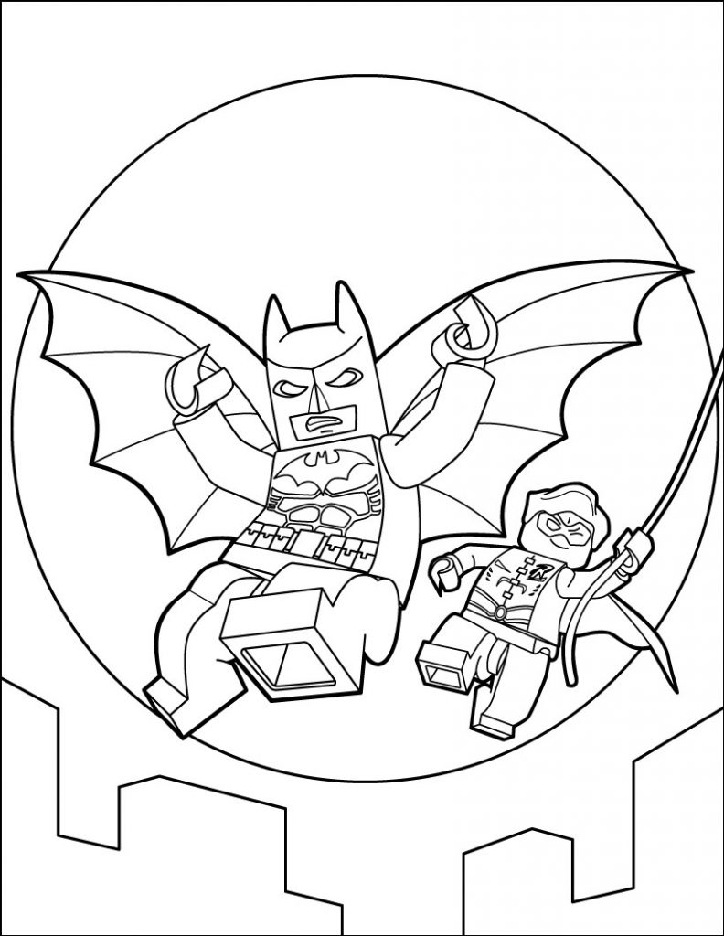 Fascinating Lego Batman Coloring Pages Free Coloring Pages