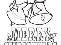 Merry Christmas Coloring Pages - Bells