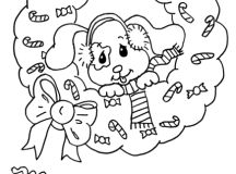 Merry Christmas Coloring Pages - Puppy