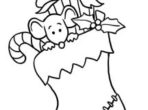 Merry Christmas Coloring Pages - Stocking
