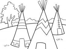Native American Coloring Pages to Print