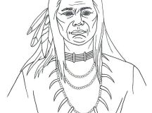 Printable Native American Coloring Pages