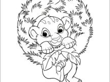 Simba - Disney Christmas Coloring Pages