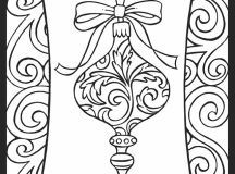 Simple Ornament - Christmas Coloring Pages for Adults