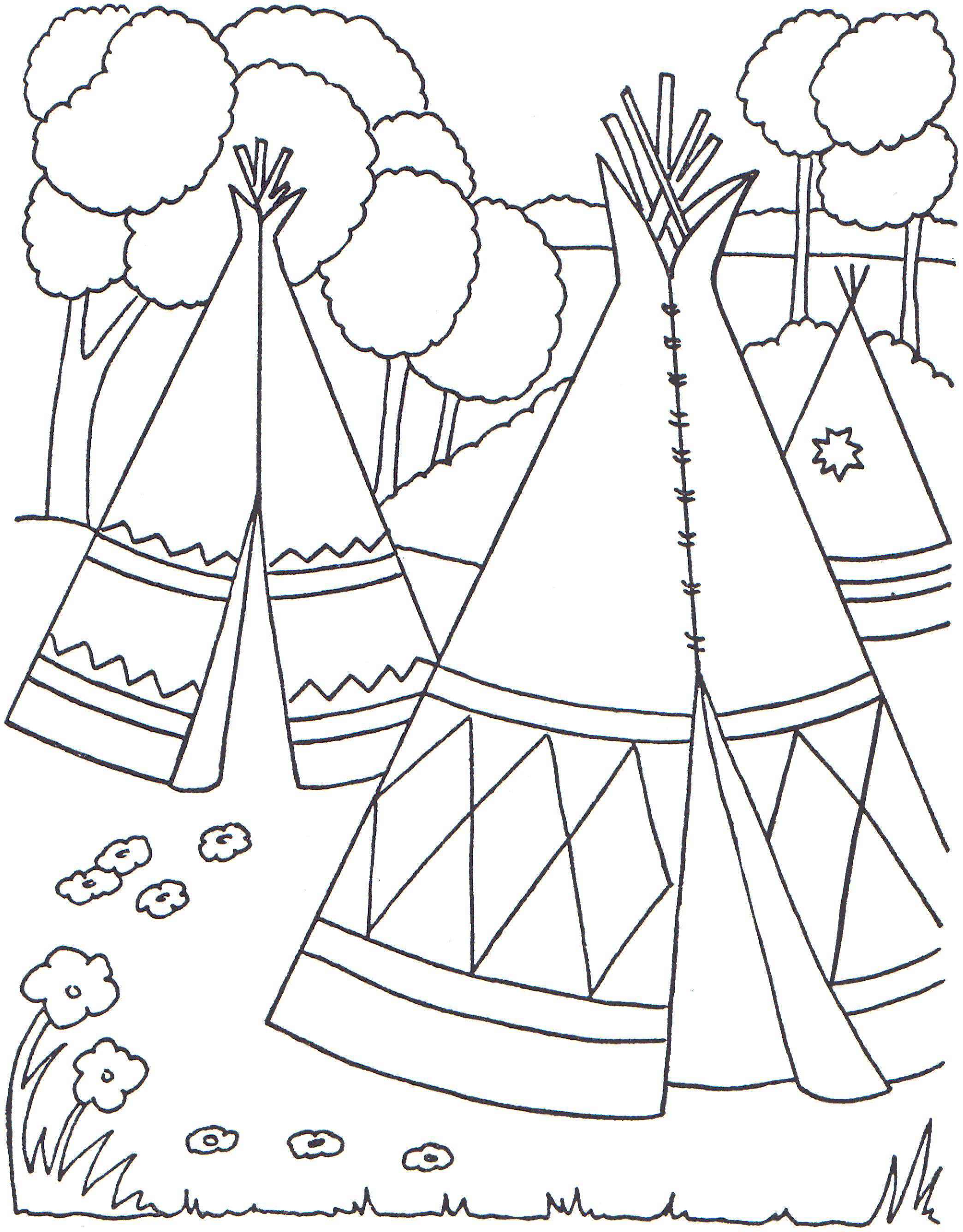 Native Americans Worksheet Kindergarten