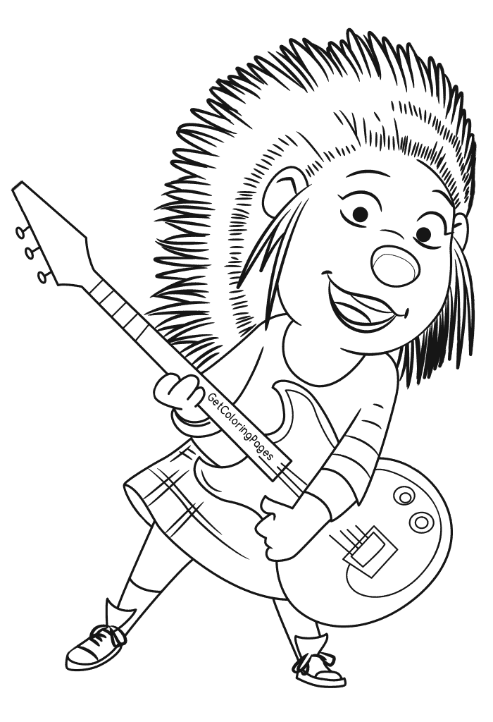 Fascinating! Sing Coloring Pages