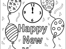Balloons - Happy New Year Coloring Pages