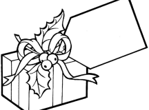 Big Tag Present Coloring Page