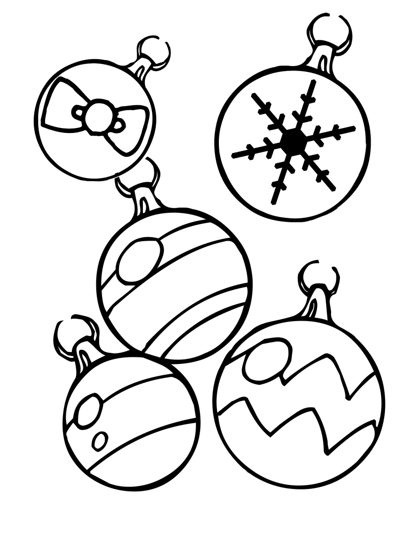 Christmas Ornaments Coloring Pages Printable Free Coloring Pages ...