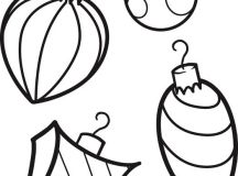Christmas Ornaments -Decorations Coloring Page